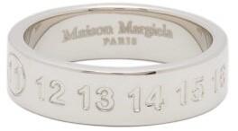 Maison Margiela 11 Debossed Sterling Silver Ring - Mens - Silver