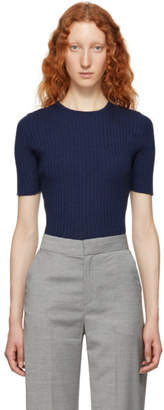 Victoria Beckham Blue Cashmere Sweater