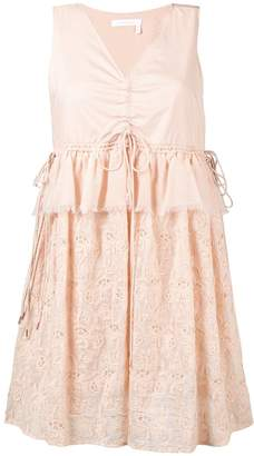 See by Chloe embroidered v-neck dress