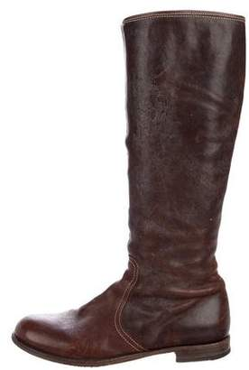 Fiorentini+Baker Leather Round-Toe Knee-High Boots