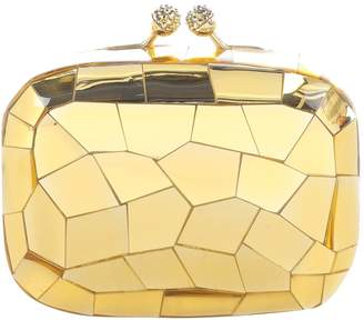 Kotur Gold Plastic Clutch Bag