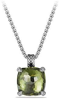 David Yurman Women's Châtelaine® Pendant Necklace with Green Orchid and Diamonds