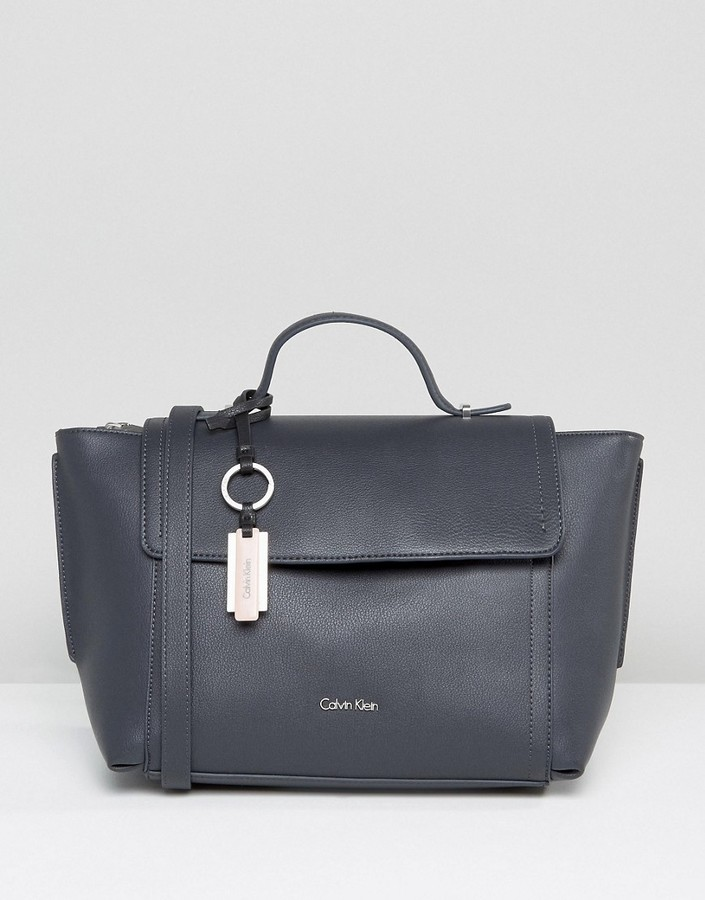Calvin KleinCalvin Klein Foldover Tote Bag in Deep Blue