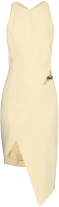 MUGLER Cut-out asymmetric-hem crepe dress $1,310 thestylecure.com