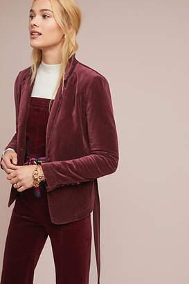 Marrakech Belted Velvet Blazer