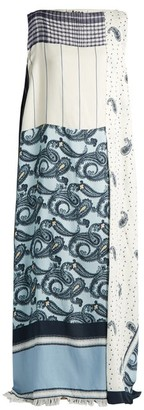 Acne Studios Dulcia Paisley Print Boat Neck Dress - Womens - Blue Multi