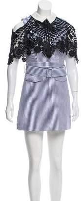 Self-Portrait Lace-Trim Shirt Dress