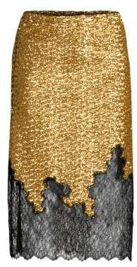 Robert Rodriguez Sequin& Lace Skirt