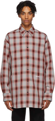 Calvin Klein (カルバン クライン) - Calvin Klein 205W39NYC グレー オーバーサイズ タータン チェック シャツ