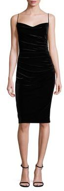 Laundry by Shelli Segal Ruched Velvet Sheath Dress $195 thestylecure.com