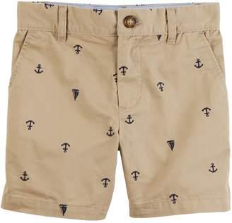 Carter's Baby Boy Anchor & Boat Schiffli Khaki Shorts