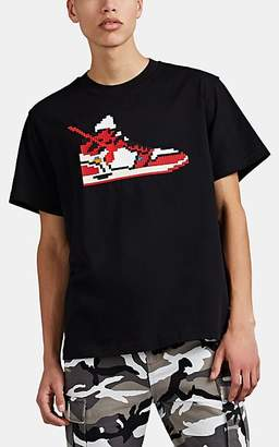Mostly Heard Rarely Seen 8-Bit Men's Virgil Sneaker-Graphic Cotton T-Shirt - Black