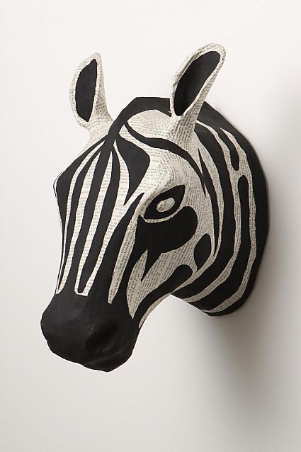 Anthropologie Savannah Story Bust, Zebra