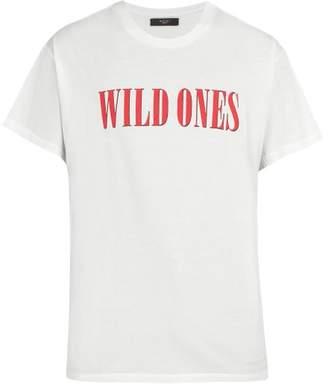 Amiri Wild Ones Cotton T Shirt - Mens - White