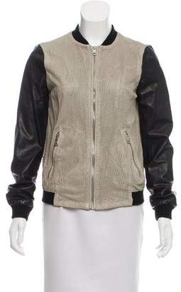 Andrew Marc Perforated Leather Jacket