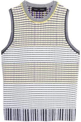 Proenza Schouler Striped Stretch-Knit Top