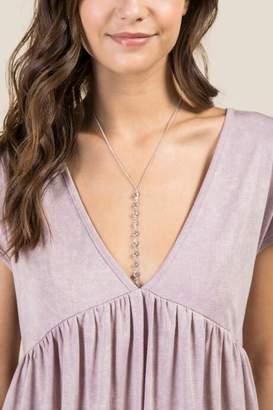 francesca's Emma Crystal Body Chain in Silver - Silver