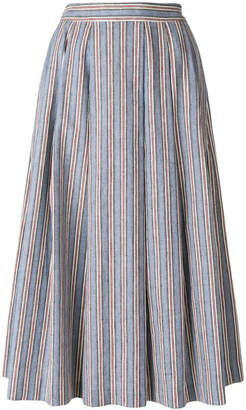 Alberto Biani striped full skirt