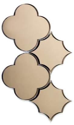 "Abolos- Echo Big Bang Backsplash 6"" x 6"" Mirror Glass Mosaic Tile in Gold (4.80sqft / 10pc Box)"