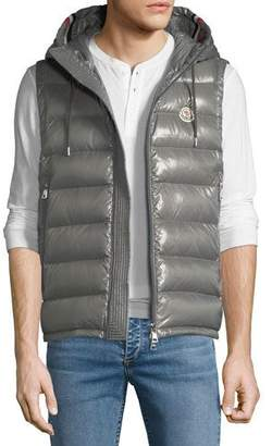 Moncler Men's Lanoux Hooded Puffer Vest