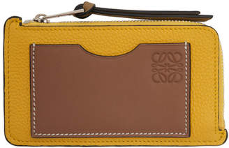 Loewe Yellow and Brown Coin Card Holder