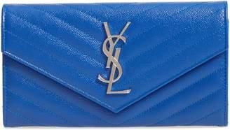 Saint Laurent M atelasse Leather Envelope Wallet