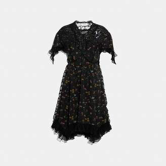 Forest Floral Printed Baby Doll Dress