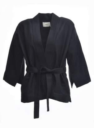 Folk Kimono Jacket in Black