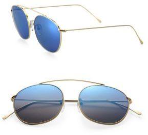 Illesteva Mykonos 57MM Mirrored Aviator Sunglasses $177 thestylecure.com