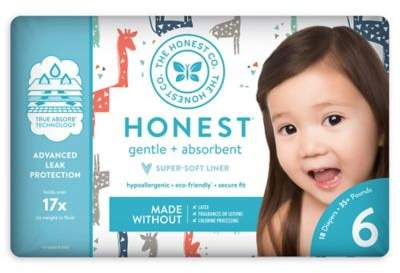 The Honest Company Honest 18-Pack Size 6 Diapers in Multicolored Giraffe Pattern