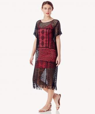 Sole Society Long Crochet Tunic w/ Fringe