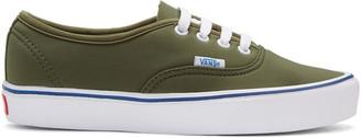 Vans Green Schoeller Edition Authentic '66 Lite LX Sneakers $80 thestylecure.com