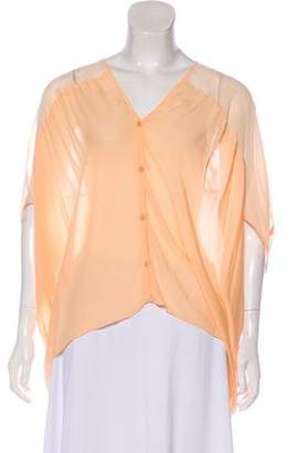Helmut Lang Oversize Button-Up Top