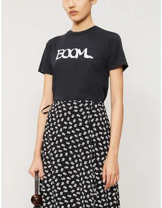 ALEXACHUNG Boom-print cotton-jersey T-shirt