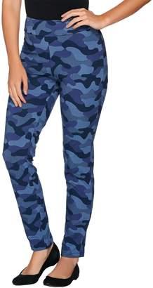 Women With Control Women with Control Petite Camo Printed Slim Leg Pants
