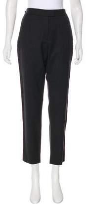 Veronica Beard Mid-Rise Virgin Wool Pants