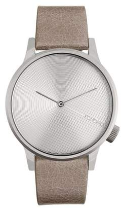 Komono Winston Deco Leather Strap Watch, 41mm