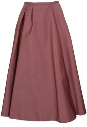 Rochas Satin Pleated Skirt