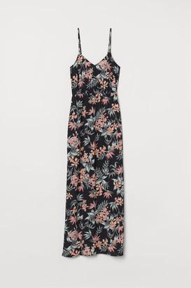 H&M Creped Maxi Dress - Black
