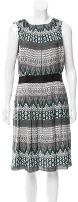 L'Agence Aztec Print Midi Dress