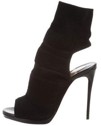 Christian Louboutin Sock Peep-Toe Booties