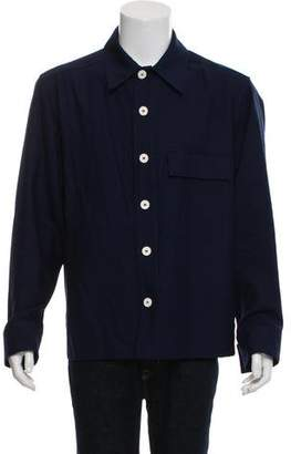 Marni Contrast Button-Up Shirt Jacket