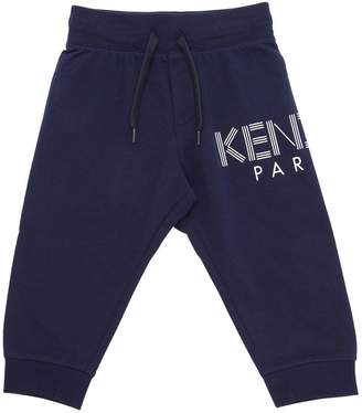 Kenzo Logo Printed Cotton Sweatpants