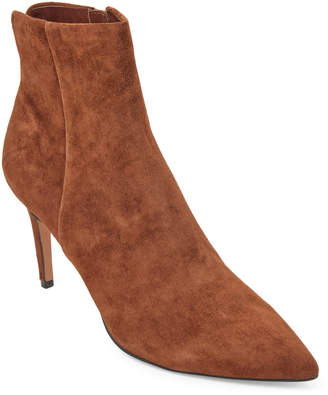 Steve Madden Steven By Chestnut Leiland Suede Pointed Toe Booties