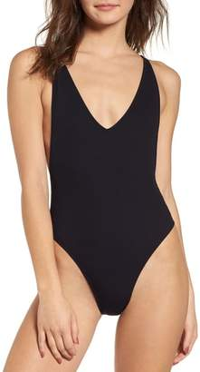 Topshop Pamela Ribbed Swimsuit