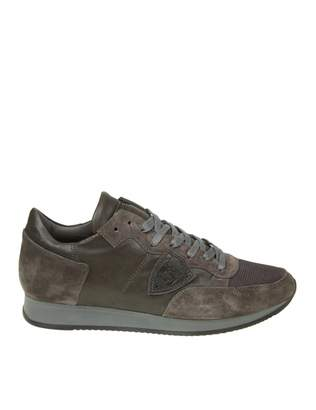 Philippe Model Sneakers Tropez Suede Anthracite Color
