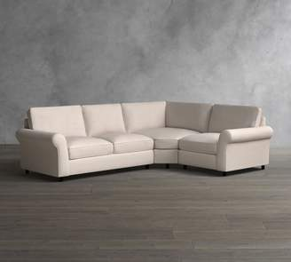 Pottery Barn PB Comfort Roll Arm Upholstered 3-Piece Sectional with Wedge
