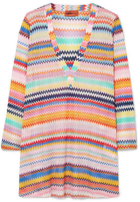 Missoni Mare Crochet-knit Kaftan - Orange