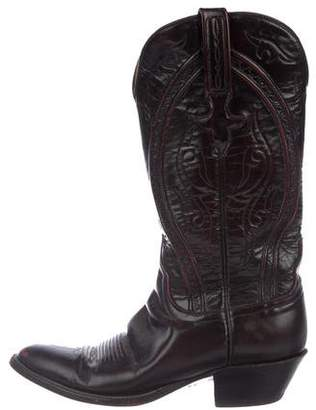 Lucchese Embroidered Cowboy Boots
