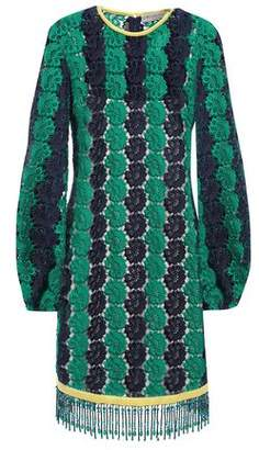 Emilio Pucci Bead-embellished Guipure Lace Mini Dress